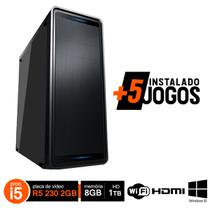 PC Gamer i5  3470 8GB HD 1TB R5 230 2GB Wifi Win10 Hdmi + 5 Jogos - Fnew