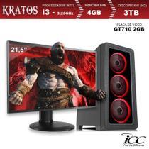PC Gamer ICC KT2344SM21 Intel Core I3 3,20 Ghz 4GB 3TB GT710 2GB HDMI FULL HD Monitor LED 21,5 -