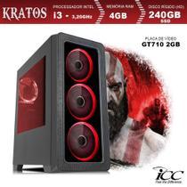 PC Gamer ICC KT2347S Intel Core I3 3,20 Ghz 4GB 240GB SSD GT710 2GB HDMI FULL HD -