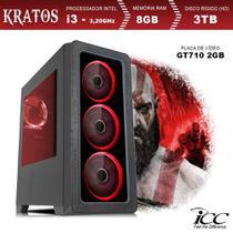PC Gamer ICC KT2384SW Intel Core I3 3,20 Ghz 8GB 3TB GT710 2GB HDMI FULL HD Windows 10 -