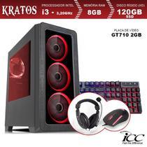 PC Gamer ICC KT2386K Intel Core I3 3,20 Ghz 8GB 120GB SSD GT710 2GB Kit Multimídia -