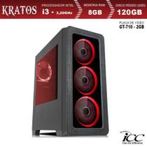 PC Gamer ICC KT2386S Intel Core I3 3,20 Ghz 8GB 120GB SSD GT710 2GB HDMI FULL HD -