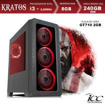 PC Gamer ICC KT2387SW Intel Core I3 3,20 Ghz 8GB 240GB SSD GT710 2GB HDMI FULL HD Windows 10 -