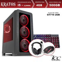 PC Gamer ICC KT2541KW Intel Core I5 3,20 Ghz 4GB 500GB GT710 2GB Kit Multimídia Windows 10 -