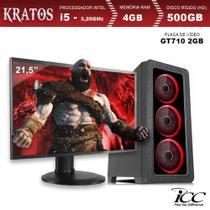 PC Gamer ICC KT2541SM21 Intel Core I5 3,20 Ghz 4GB 500GB GT710 2GB HDMI FULL HD Monitor LED 21,5 -