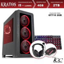 PC Gamer ICC KT2543KW Intel Core I5 3,20 Ghz 4GB 2TB GT710 2GB Kit Multimídia Windows 10 -