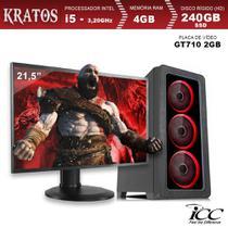 PC Gamer ICC KT2547SWM21 Intel Core I5 3,20 Ghz 4GB 240GB SSD GT710 2GB Monitor LED 21,5 Windows 10 -