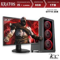PC Gamer ICC KT2582SWM21 Intel Core I5 3,20 Ghz 8GB 1TB GT710 2GB Monitor LED 21,5 Windows 10 -