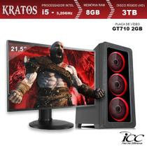 PC Gamer ICC KT2584SWM21 Intel Core I5 3,20 Ghz 8GB 3TB GT710 2GB Monitor LED 21,5 Windows 10 -