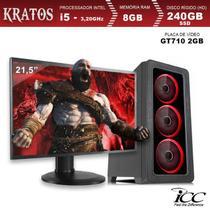 PC Gamer ICC KT2587SM21 Intel Core I5 3,20 Ghz 8GB 240GB SSD GT710 2GB HDMI FULL HD Monitor LED 21,5 -