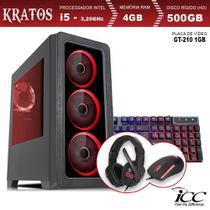 PC Gamer ICC KTL2541K Intel Core I5 3,20 Ghz 4GB 500GB GT210 1GB KIT Multimídia HDMI FULL HD -