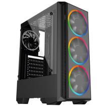 PC Gamer Intel 10a Geração Core i3 10100F, Geforce GTX 1050 Ti 4GB, 8GB DDR4 2666MHZ, HD 1TB, 500W, Skill PCX -