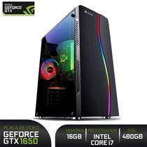 PC Gamer Intel 9ª Geração i7 9700K 4.9Ghz 8 Núcleos 12MB Placa ASUS 16GB DDR4 Crucial Ballistix SSD 480GB Geforce GTX 1650 4GB 500W 80 Plus - 3Green