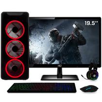 PC Gamer Intel Core i5 8GB HD 1TB (Nvidia Geforce GT) Kit Gamer e Monitor LED HDMI 19.5