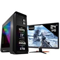 PC Gamer Intel Core i7 7700 GTX 1070 8GB Monitor 1ms Acer 24 GN246HL Display Port 16GB 1TB EasyPC
