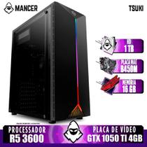 PC Gamer Mancer, AMD Ryzen 5 3600, B450M, GeForce GTX 1050 Ti 4GB, 16GB DDR4, HD 1TB, 400W -