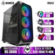 PC Gamer Mancer, AMD Ryzen 5 3600, GeForce GTX 1050 Ti 4GB, 16GB DDR4, SSD 240GB, 400W -