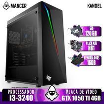 PC Gamer Mancer, Intel i3, GTX 1050 Ti 4GB, 16GB DDR3, SSD 120GB, 400W -