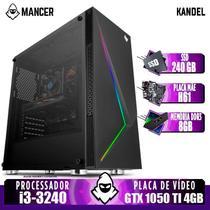 PC Gamer Mancer, Intel i3, GTX 1050 Ti 4GB, 8GB DDR3, SSD 240GB, 400W -