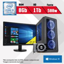 PC Gamer + Monitor 21,5 Intel Core i5 7ª Geração 8GB HD 1TB 1050TI Windows 10 SL CertoX BRAVE 5006 - Certo pc