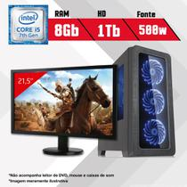 PC Gamer + Monitor 21,5 Intel Core i5 7ª Geração 8GB HD 1TB CertoX BRAVE 5002 - Certo pc