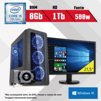 PC Gamer + Monitor 21,5 Intel Core i5 7ª Geração 8GB HD 1TB GTX 1050 Win10 SL CertoX BRAVE 5005 - Certo pc