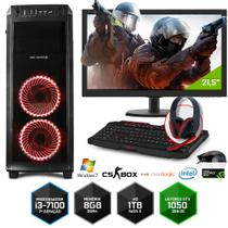 PC Gamer Neologic CS BOX NLI7033 Intel Core i3-7100  8GB(Gtx1050 2GB)1Tb+Monitor 21,5  Win 7
