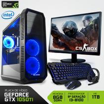 PC Gamer Neologic CS BOX NLI7050 Intel Core i3-8100 8ª Geração 8GB(Gtx1050TI 4GB)1TB + Monitor 21.5