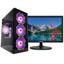 Pc Gamer One Concórdia Completo Com Monitor De 19,5'' Core I5 Memória 8gb Hd 500gb Placa De Vídeo 4gb Com Wifi -