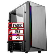 PC Gamer PlayNow AMD Ryzen 3 2200G 8GB DDR4 2666MHZ (Placa de vídeo Radeon VEGA 8) HD 2TB 500W Skill -