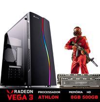PC Gamer Power XH1-1 AMD Athlon 200GE 3.2GHZ (Placa de vídeo Radeon VEGA 3) 8GB BALLISTIX 2666MHZ DDR4 HD 500GB - 3green