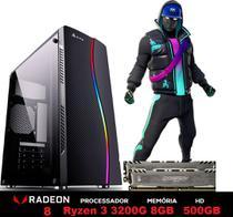 PC Gamer Power XH1-1 AMD Ryzen 3200G 4.0GHZ (Placa de vídeo Radeon VEGA 8) 8GB BALLISTIX 2666MHZ DDR4 HD 500GB - 3green