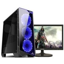 "PC Gamer TOP Completo Monitor 21.5"" Concórdia Core i7 8700 16GB HD 1TB SSD 120GB 1050Ti com WIFI -"