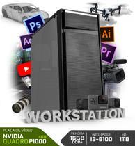 Pc neologic workstation nli80407 intel i3-8100 16gb ram (nvidia quadro p1000) hd 1tb -