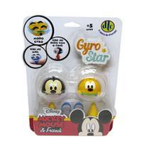 Peão Disney Gyro Star Mickey e Pluto - DTC -