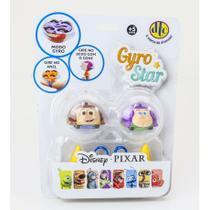Peão Disney Pixar Gyro Star Woody e Buzz - DTC -