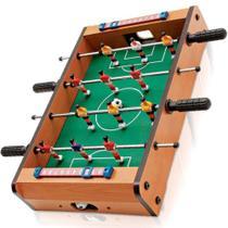 Pebolim Totó Futebol de Mesa 10x31x51cm 12 Jogadores 2 Bolas - Maclen