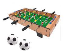 Pebolim Totó Futebol De Mesa 18jogador 70x37x17cm Bolas Jogo - Brilho