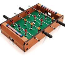 Pebolim Totó Futebol Mesa Portátil 12 Jogadores 2 Bolas e Placar - Rio Master
