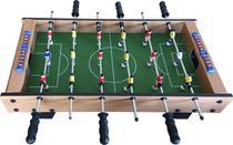 PEBOLIM Totó Jogo de Futebol de Mesa 18 Jogadores 2 Bolas e Placar 37x72cm - Rio Master