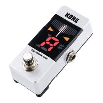 Pedal afinador korg para guitarra / baixo - pitchblack pb-mini-wh -