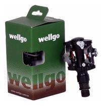 Pedal Bike Clip Sapatilha Wellgo M919 Rolamento Mtb C/ Tacos -