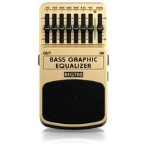 Pedal de Baixo Behringer Equalizador BEQ700 - Chave On/Off eletrônica e 7 Bandas de Equalização -