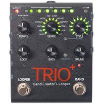 Pedal Digitech Trio Plus V 04 Brand Creator e Looper com Fonte Preto -