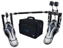 Pedal Duplo Mapex Falcon PF1000TW Double Chain com Polia Pursuit, Batedores com Peso e Bag Incluso -