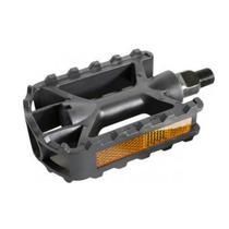 Pedal Plastico MTB Inglês Metalciclo Preto -