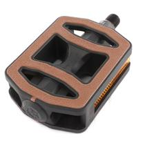 Pedal Plastico Sueco Bicolor Marrom - Metalciclo