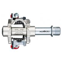Pedal X-Pedo M-Force MF-3 com Corpo em Aço Inox e Eixo em CrMo Cinza -