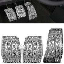 Pedaleiras Esportivas Tuning Nitroxx PX4 Alumínio Cromado 3 Peças Shutt Universal Encaixe Perfeito -