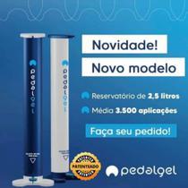 Pedalgel - Totem com Dispenser em álcool gel - Pedalgel Dispenser Álcool Gel